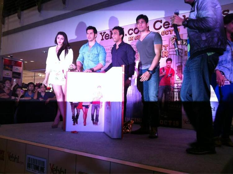 Student Of The Year Team At Infiniti Mall For Promoting SOTY