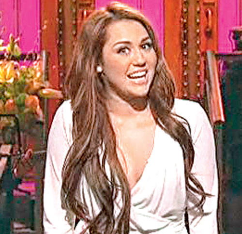 Miley Cyrus Smiling Still