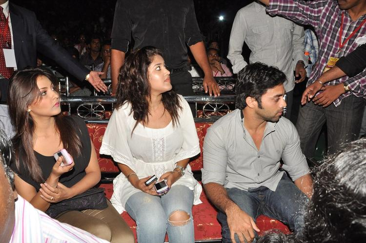 Navdeep And Madhu At Aurora College Function
