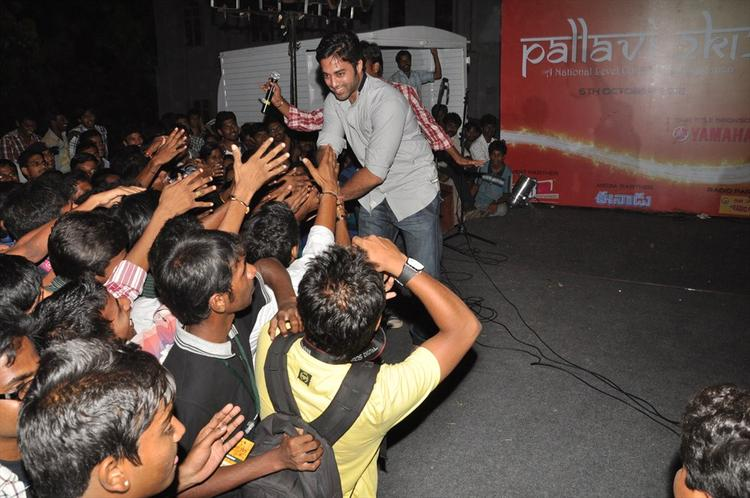 Navdeep Greets His Fans At Aurora College