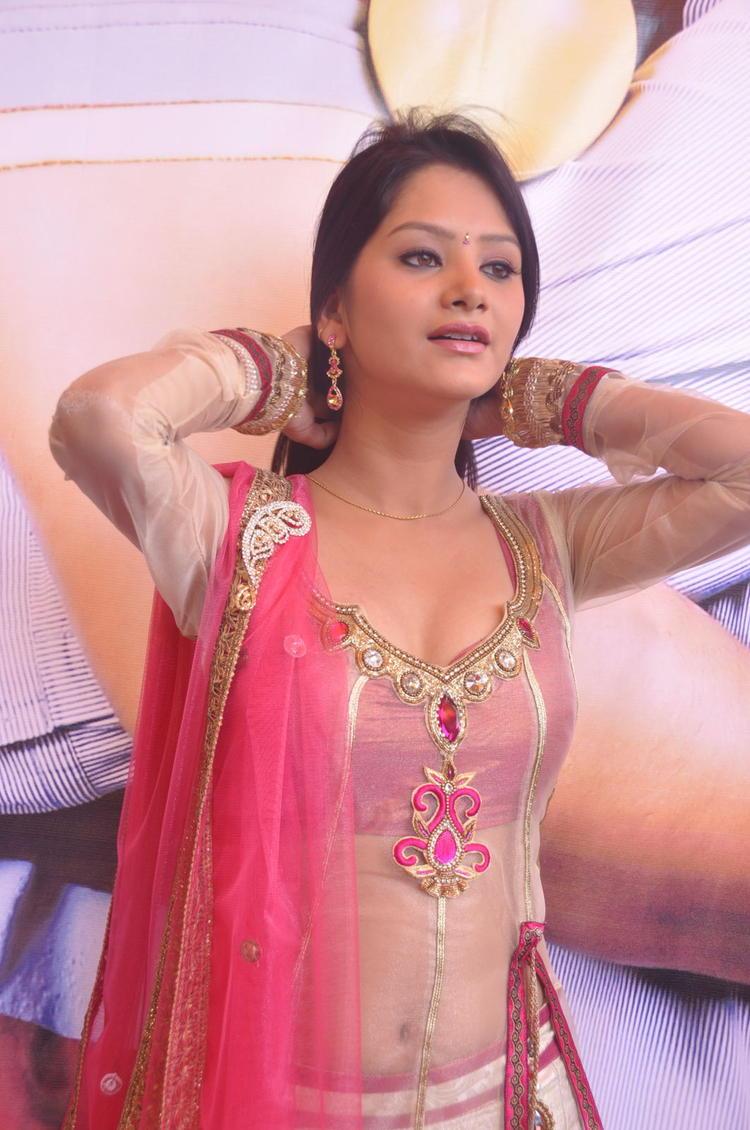 Mounika Glamour Look Photo Shoot At Paddamandi Premalo Movie Launch