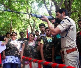 Arjun Dashing Still During Get Arrested Campaign Of Chakravyuh