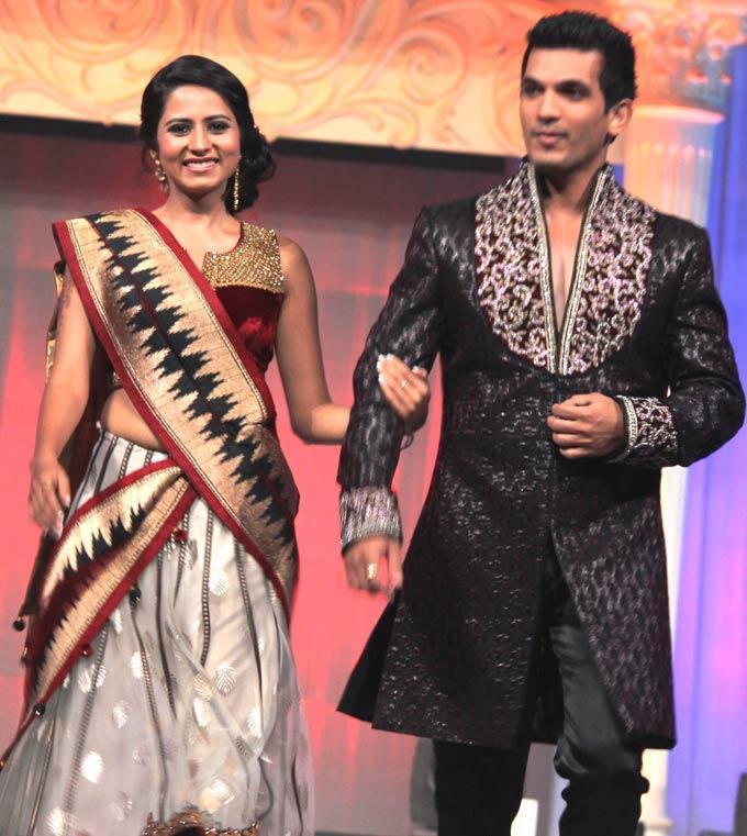 Sargun And Arjun On Ramp Walk At Gitanjali ITA Fashion Show