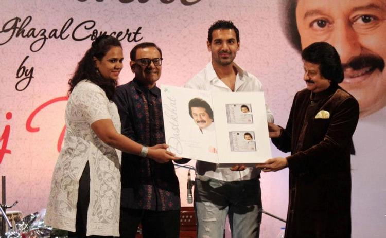 Bollywood Hunk John Unveiled Pankaj Udhas New Music Album Dastkhat