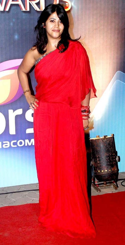 Ekta Kapoor Click For Pose At The People's Choice Awards