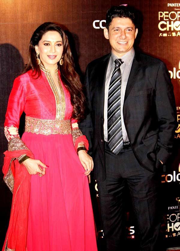 Madhuri With Husband Sriram Nene At The People's Choice Awards