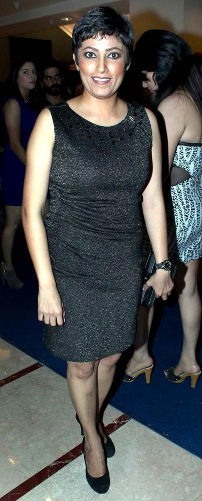 Meghna Malik In Black Dress At The Saas Bahu Aur Saazish Success Bash