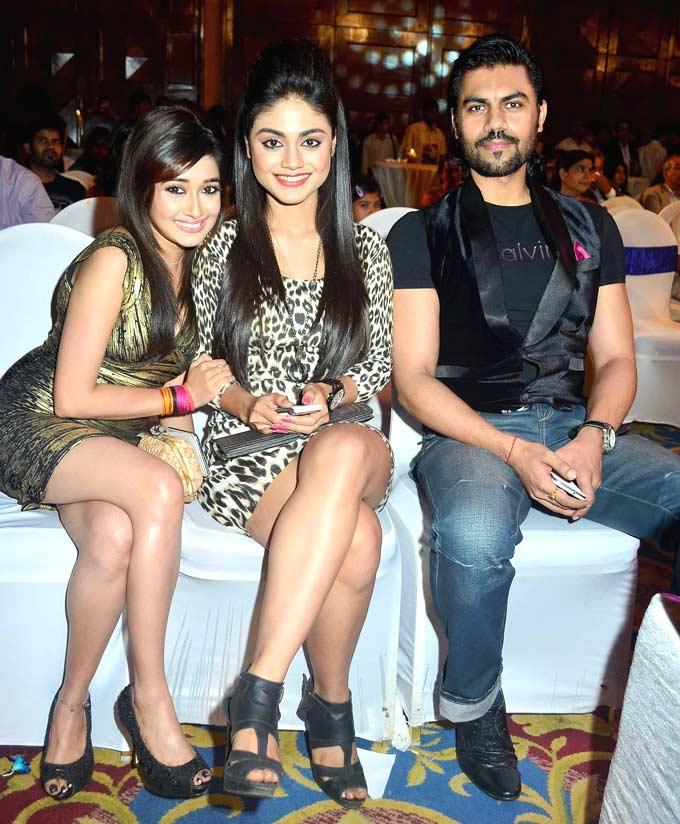 Tina With Srijita And Gaurav At The Saas Bahu Aur Saazish Success Bash
