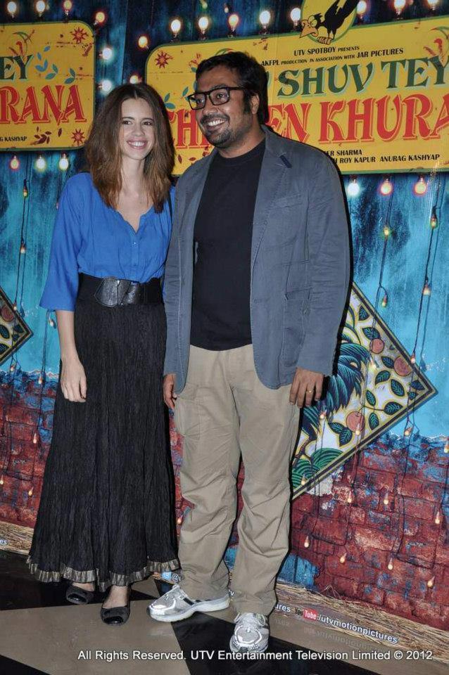 Kalki And Anurag Smiling Still At Luv Shuv Tey Chicken Khurana Premiere