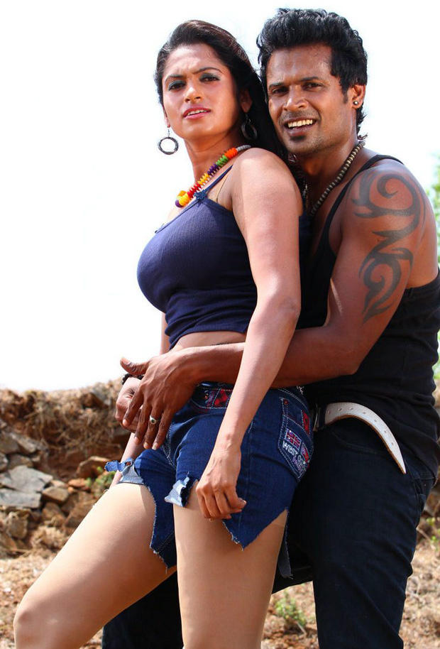 Sarathi And Govindh Hug Photo From Soundarya Tamil Movie