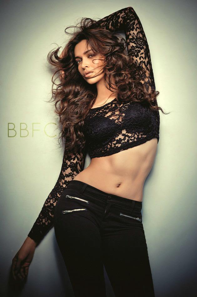 Deepika Sexy Navel Expose Hot Photo Shoot For FHM India Magazine November