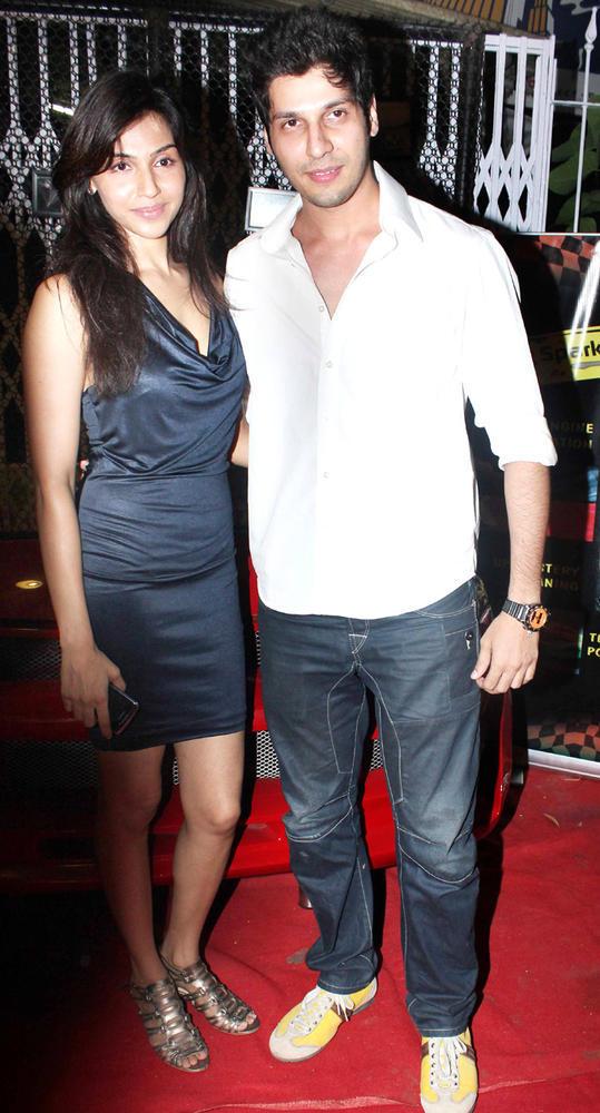 Alka Verma With Bhaumik Sampat Posed At The Coffee Adda Launch