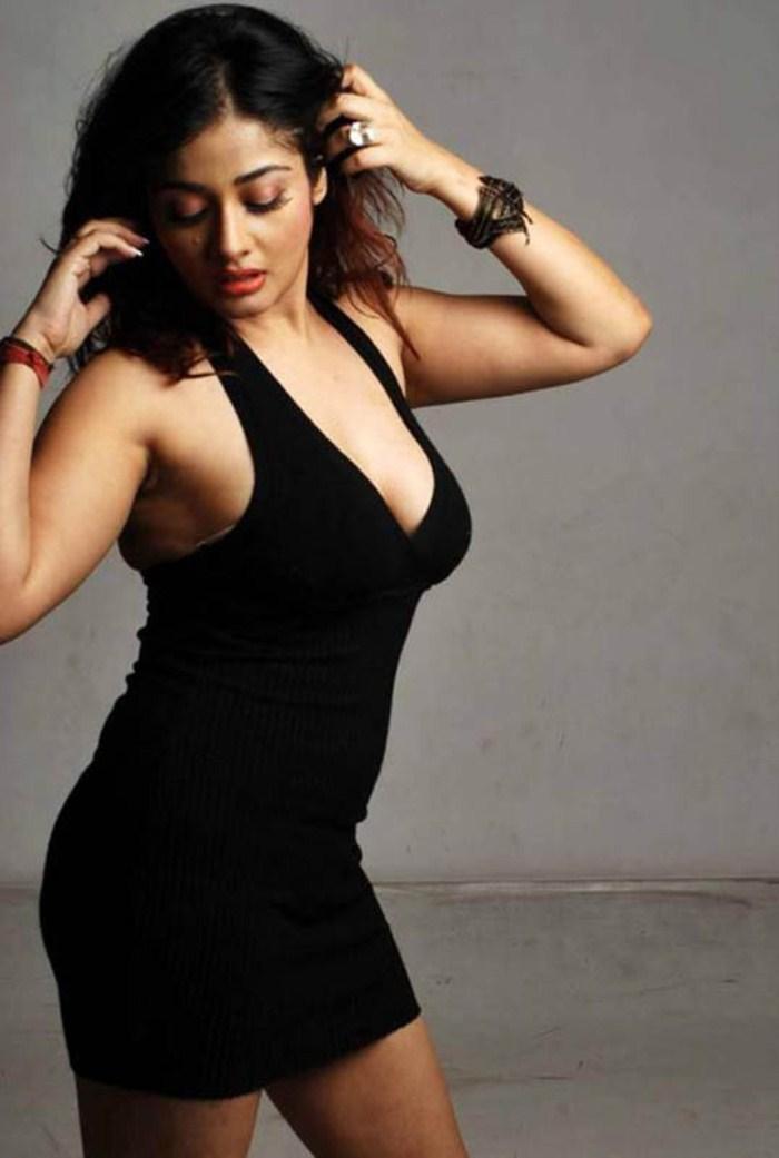 Kiran Rathod Sizzling In Black Dress Still