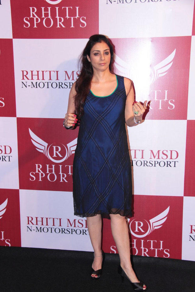 Tabu Spotted At The Launching Event Of Mahi Racing Team India