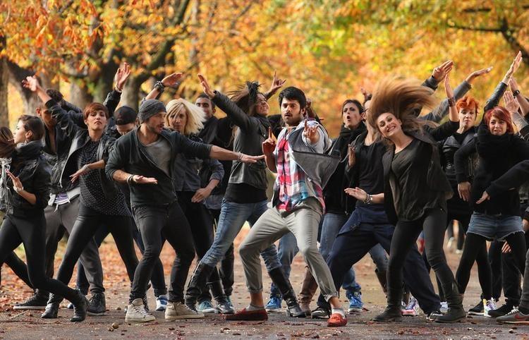 Prabhas Dance Still From Telugu Movie Mirchi