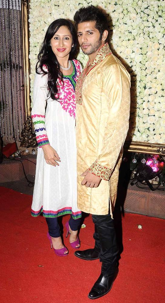Teejay With Hubby Karanvir At Kiran Bawa's Diwali Bash