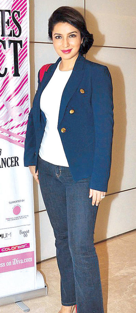 Tisca Corporate Look Photo Clicked At Breast Cancer Awareness Programme