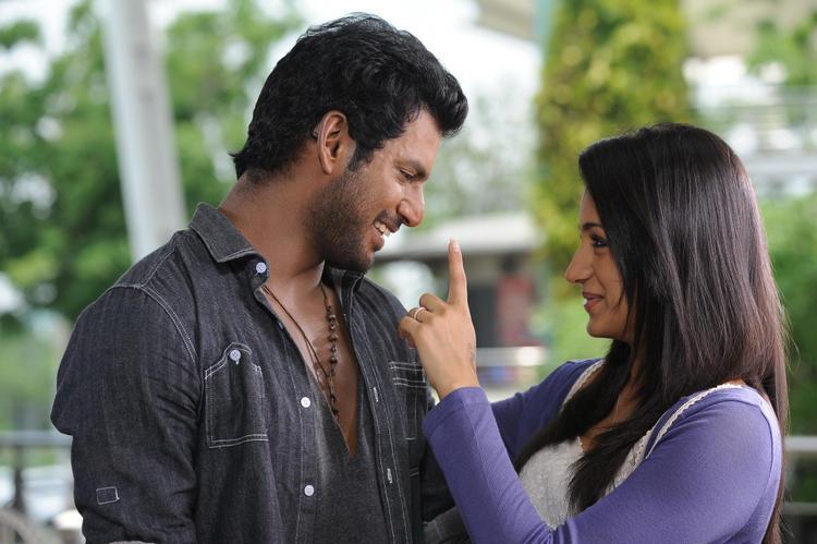 Vishal And Trisha Smiling Cool Still From Samar Movie