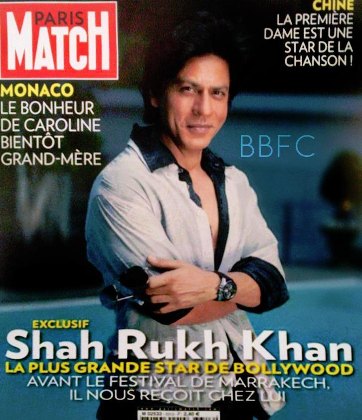 SRK On The Cover Of French Magazine Paris Match November 2012 Issue