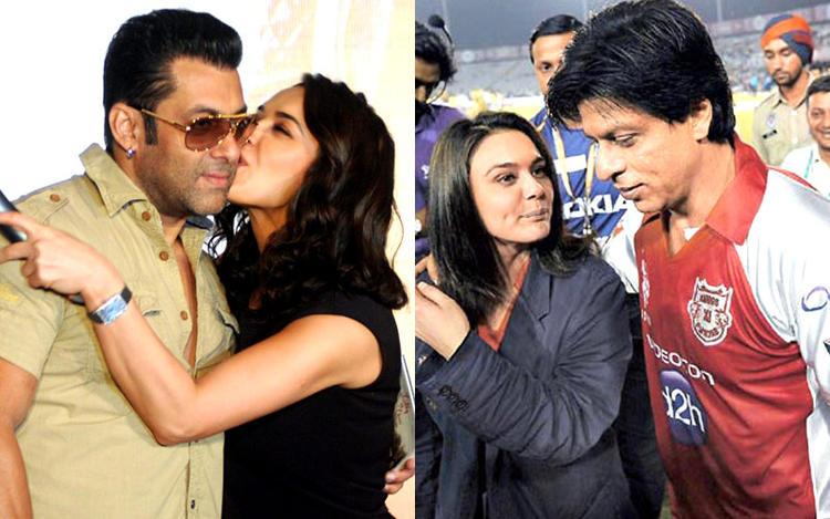 Preity Kisses Salman Hot Still And SRK And Preity At IPL Ground Still