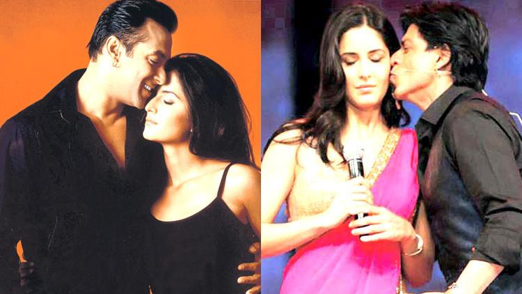 Salman With Katrina Romantic Still And SRK Kisses Katrina Nice Still