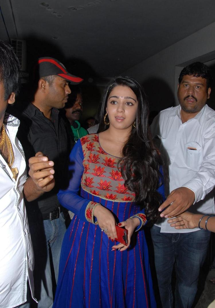 Charmy Spotted At Naveena Cosmetic Slim Clinic Opening