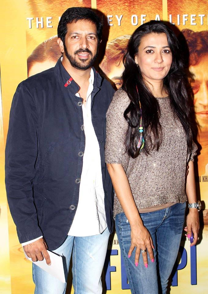 Kabir With Wife Mini Clicked At The Premiere Of Life Of Pi