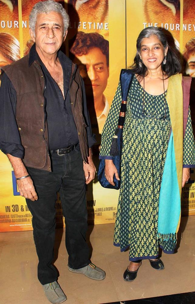 Naseeruddin With Wife Ratna Spotted At The Premiere Of Life Of Pi