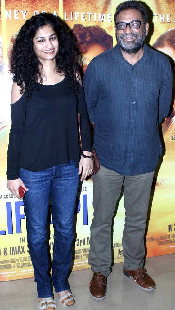R Balki And Wife Gauri Shinde Clicked At The Premiere Of Life Of Pi