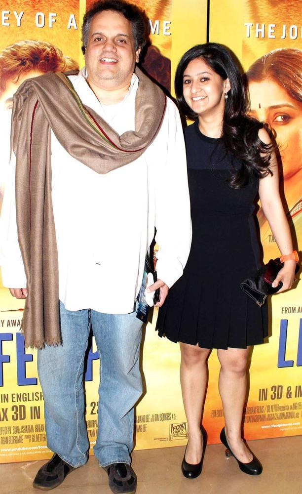 Sandeep Khosla And Guest At The Premiere Of Life Of Pi