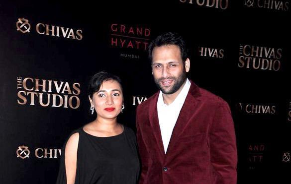 Bikram With Wife Schauna Posed At Chivas Studio 2012 On Day 2