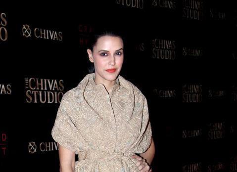 Neha Dhupia Dazzles With Red Lipstick At Chivas Studio 2012 On Day 2