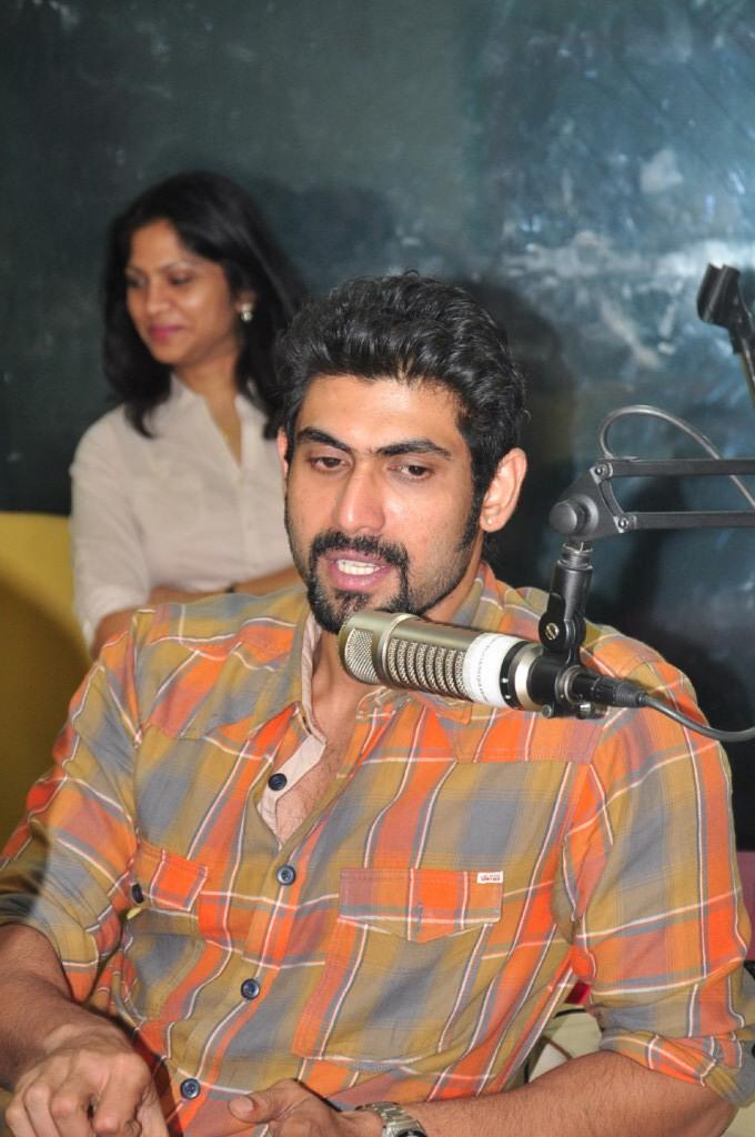 Rana Daggubati Handsome Look Still At Radio Mirchi For KVJ Promotion