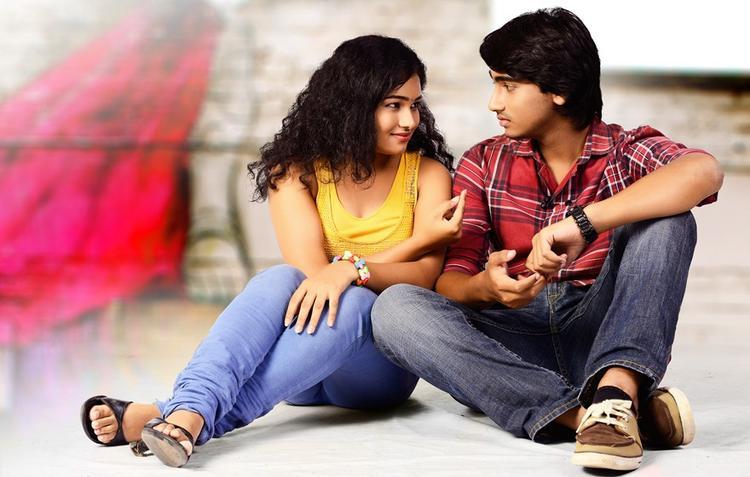 Maithili And Krishna Cool Still From Telisi Teliyaka Movie