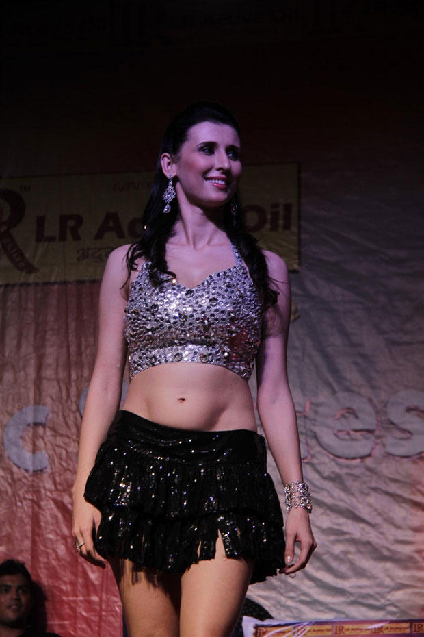Claudia Cieslia In Sexy Short Dress At Mithibai College To Promote Khiladi 786