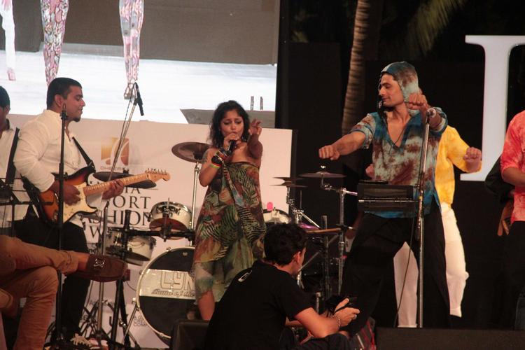 Drums Beat Photo Clicked At India Resort Fashion Week 2012