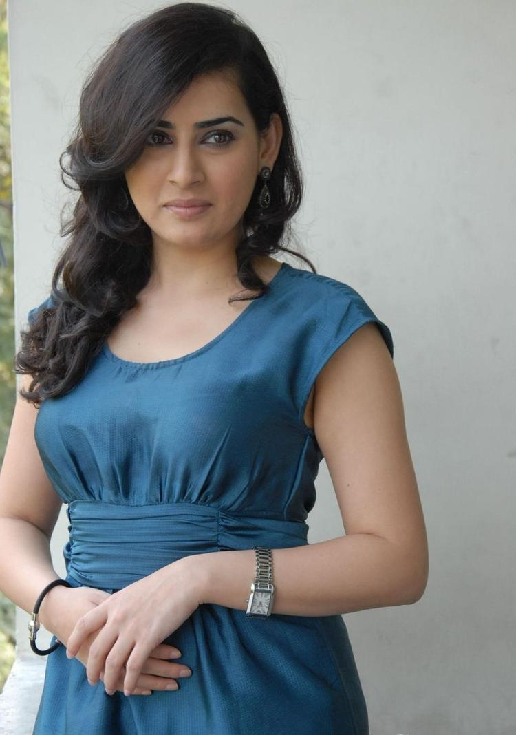 Archana Looked Ravishing In A Blue Short Dress