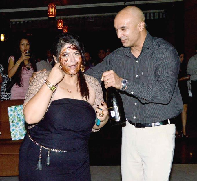 Pragati Mehra Enjoying Still At Her Birthday Bash