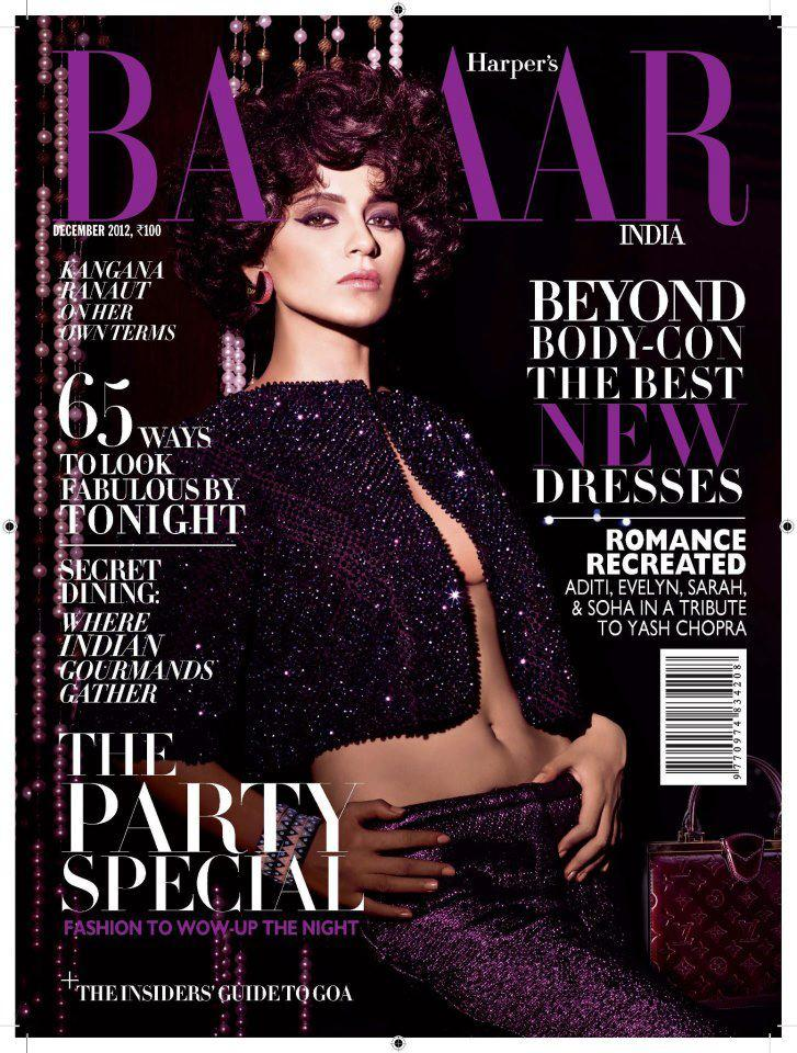Kangna Ranaut Sexy Photo On Harpers Bazaar India  December