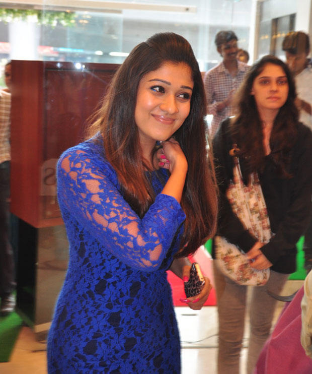 Nayanthara Cute Smiling Pose At Jos Alukkas New Collection Launch