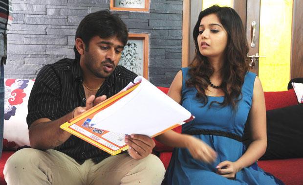 Nikhil And Reddy A Still From Swamy Ra Ra Movie