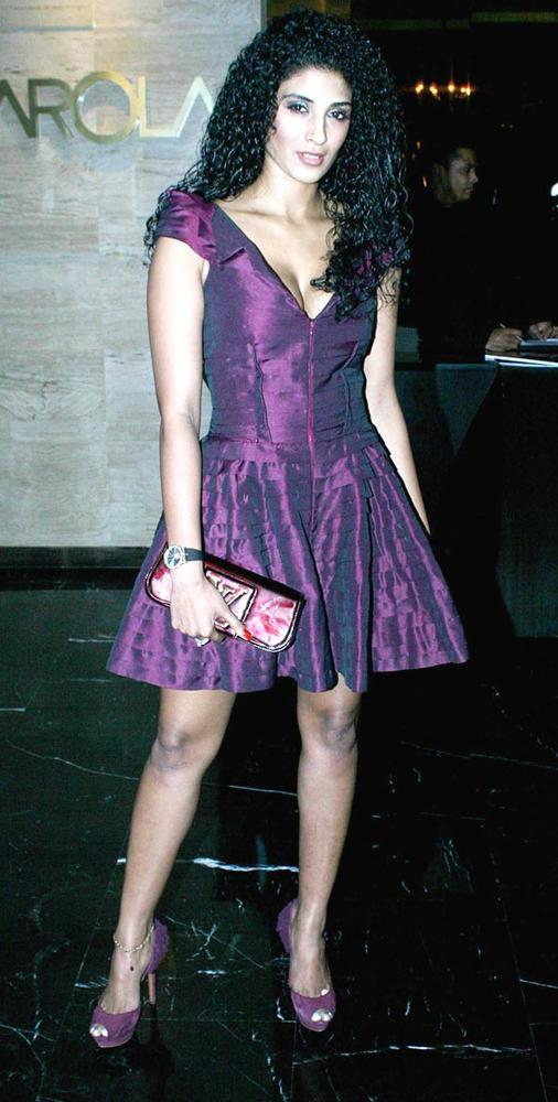 Vasuki Sunkavalli Looked Ravishing In A Violet Clor Dress At The Harper's Bazaar Bash
