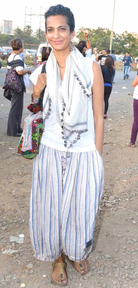 Poorna Jagannathan Posed At Guns N Roses Concert