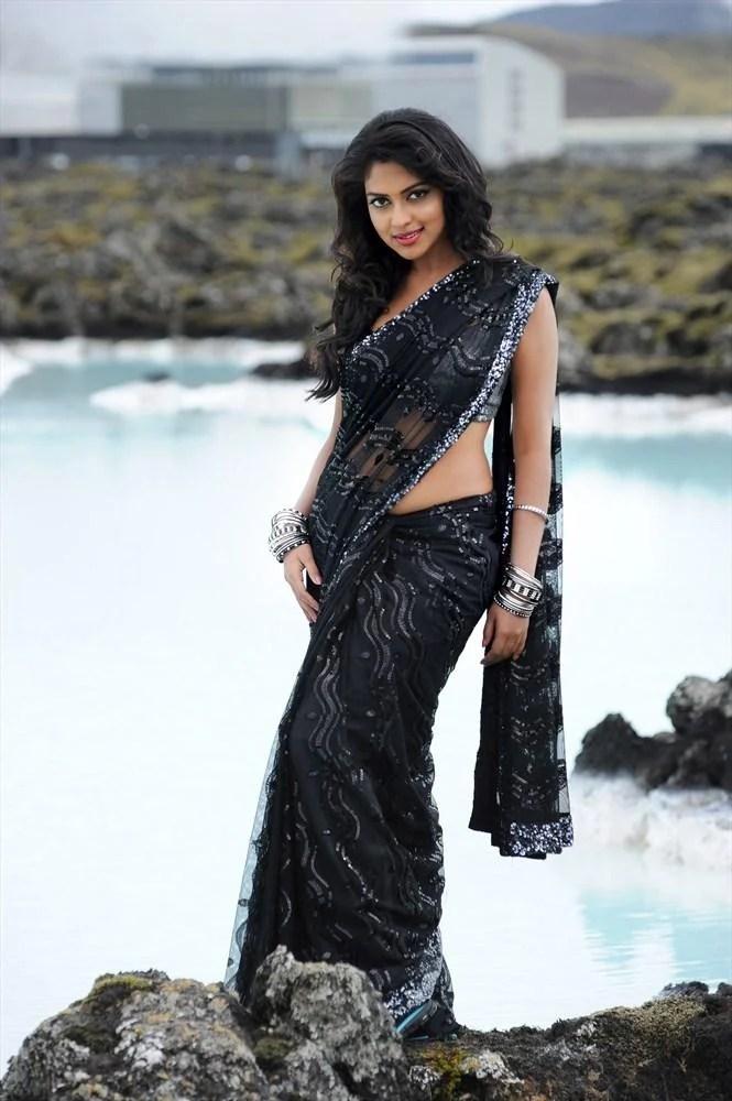 Amala Paul Beautiful Look In Black Saree Still