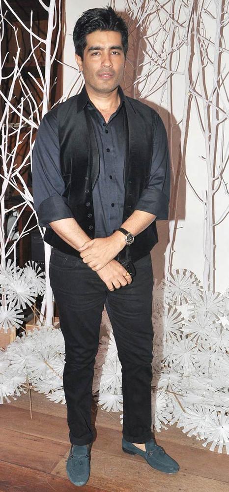 Manish Malhotra Posed For Camera At Ensemble Silver Jubilee Bash
