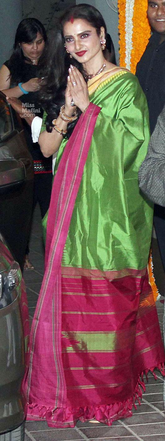 Rekha Photo Clicked At Vidya Balan Mehendi Ceremony