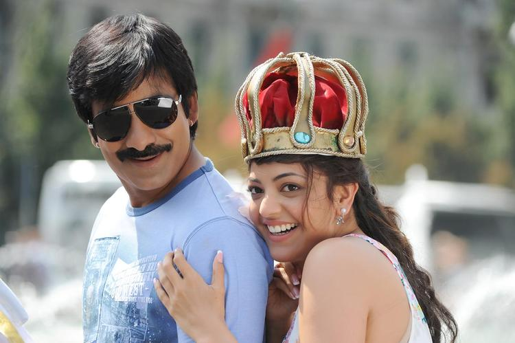 Ravi And Kajal Cool Smiling From Sarocharu Movie