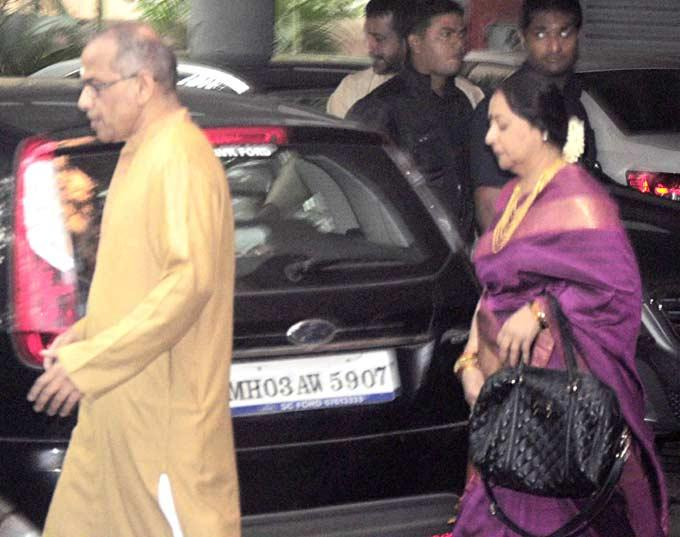 P K Balan And Saraswathy Spotted At Their Daughters Wedding Ceremony