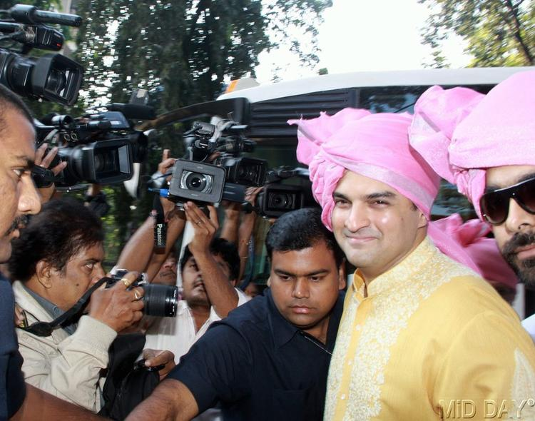 Siddharth Roy The Groom Arrived At His Private Wedding Bash