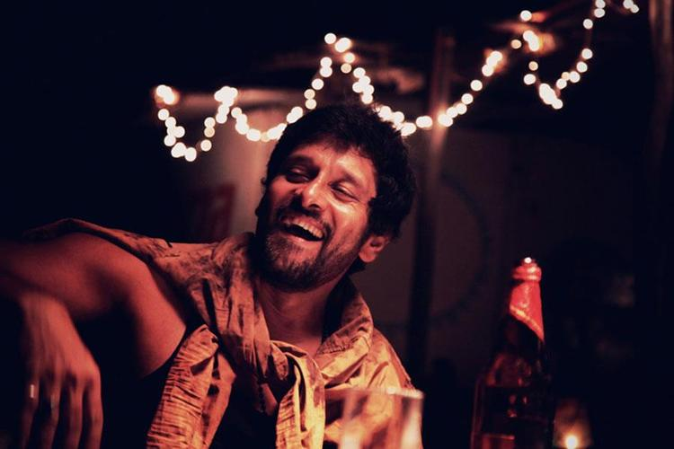 Vikram Laughing Photo From From Movie David